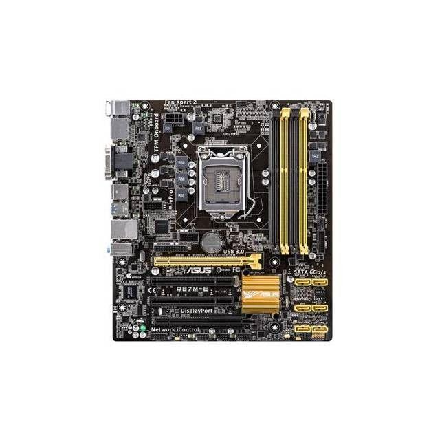 Asus Q87M-E//CSM LGA1150// Intel Q87// DDR3// Quad CrossFireX// SATA3/&USB3.0// A/&GbE// MicroATX Motherboard