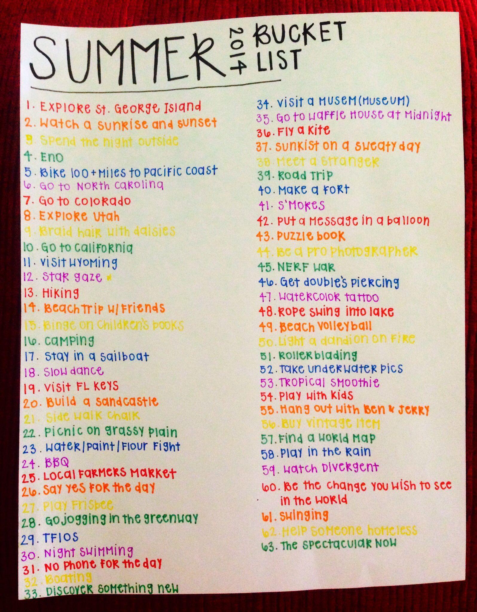 Summer Bucket List Summerbucketlists In With Images