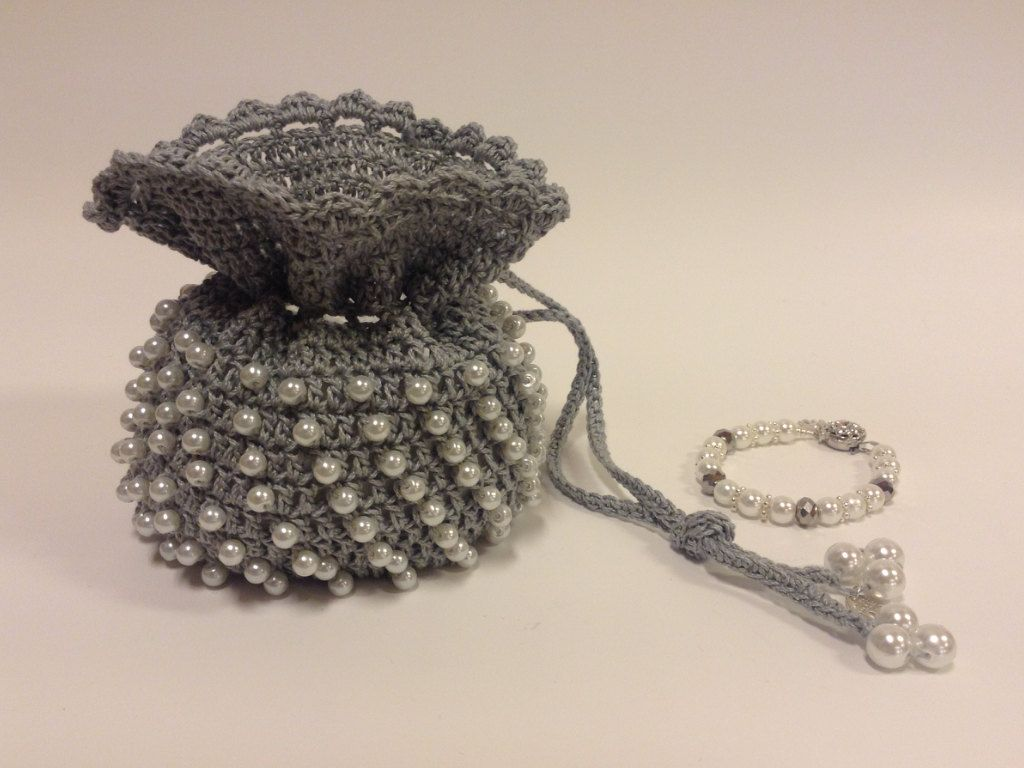 Elegant evening bag with pearls by SparkleWithMeSweden on Etsy
