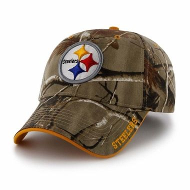 Pittsburgh Steelers 47 Brand Realtree Frost Structured Adjustable Hat - Camo 1338bb8b7
