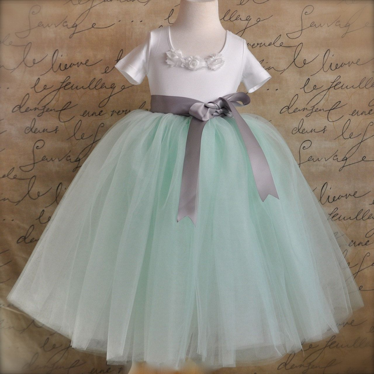 Mint Green Lined Flower Tutu Skirt By Tutuschicboutique 145 00