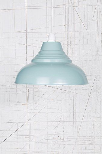 Vintage Pendant Lampshade in Blue
