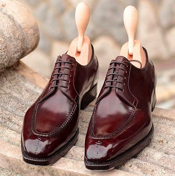 Leather Roundtoe Laceup Oxford Dress Shoes  Mens Shoes