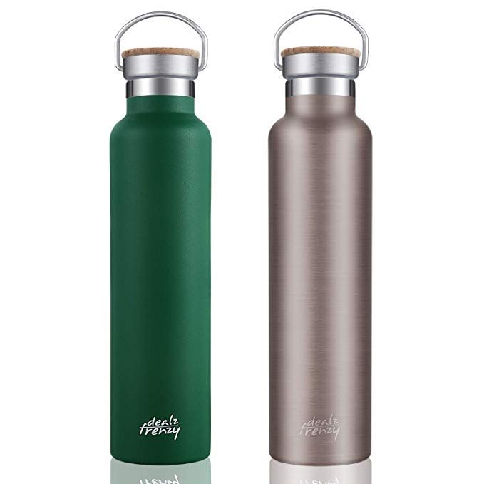 3a42e8a174e Dealz Frenzy Sports Water Bottle-Insulated Tumbler Stainless Steel Double  Wall,No Sweat Travel