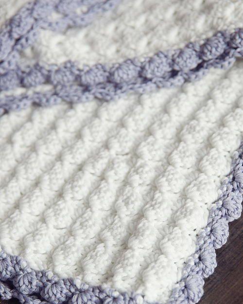 Vintage Chic Crochet Baby Blanket | Häckeln, Häkelmuster und ...