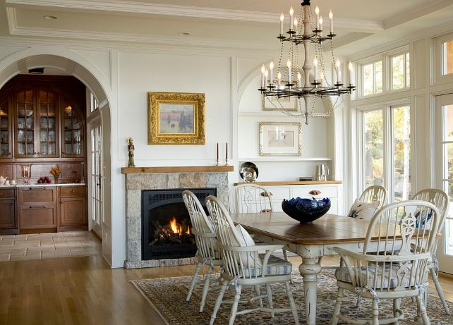 New home interior design maine beach cottage also dining rooms rh pinterest