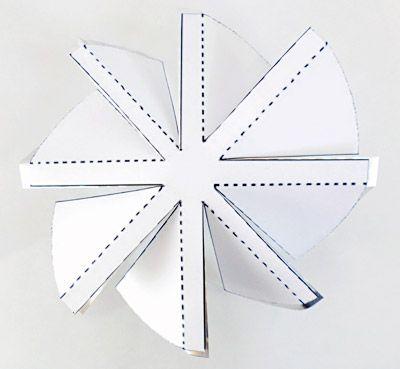 windmill template folded on aluminum circle windmill s