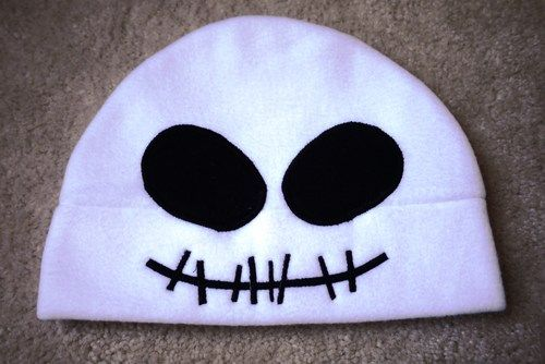 Anime Fleece Halloween Hat Skull SKELLINGTON  - Cosplay Character   HappiBoshi - Accessories on ArtFire