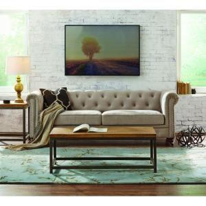 Home Decorators Collection Gordon Natural Linen Sofa Alaska