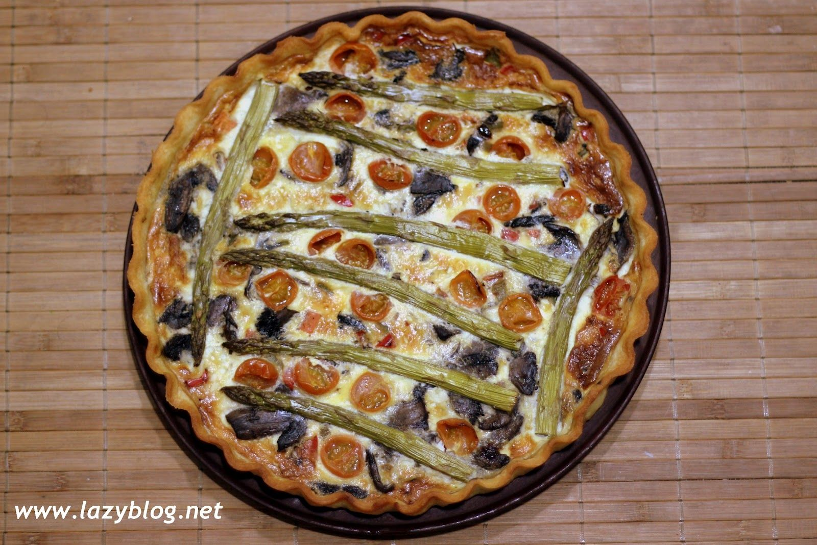 Tarta de verduras al horno / Vegetarian pie