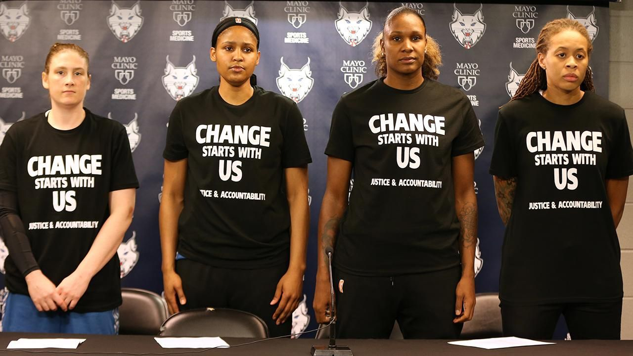 Minneapolis Cops Walk Out Of Lynx Game Over Players Comments Shirts Video Black Lives Matter Shirt Wnba Protest Shirt