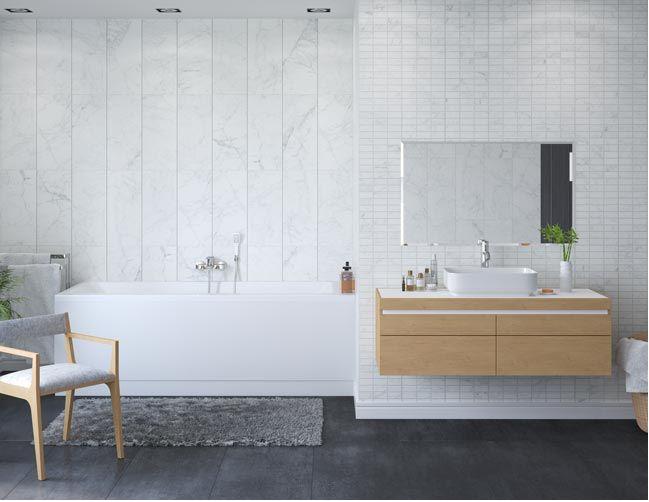 vox motivo  carrara decor  tile effect upvc panels  250