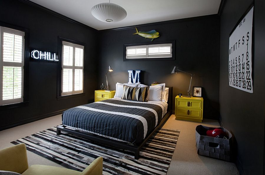 40 Beautiful Bedrooms That Will Take You Back To Black Young Man Classy Teen Bedroom Design