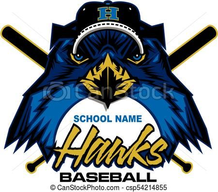 hawks baseball vector stock illustration royalty free rh pinterest com hawks clipart basketball hawks clipart basketball