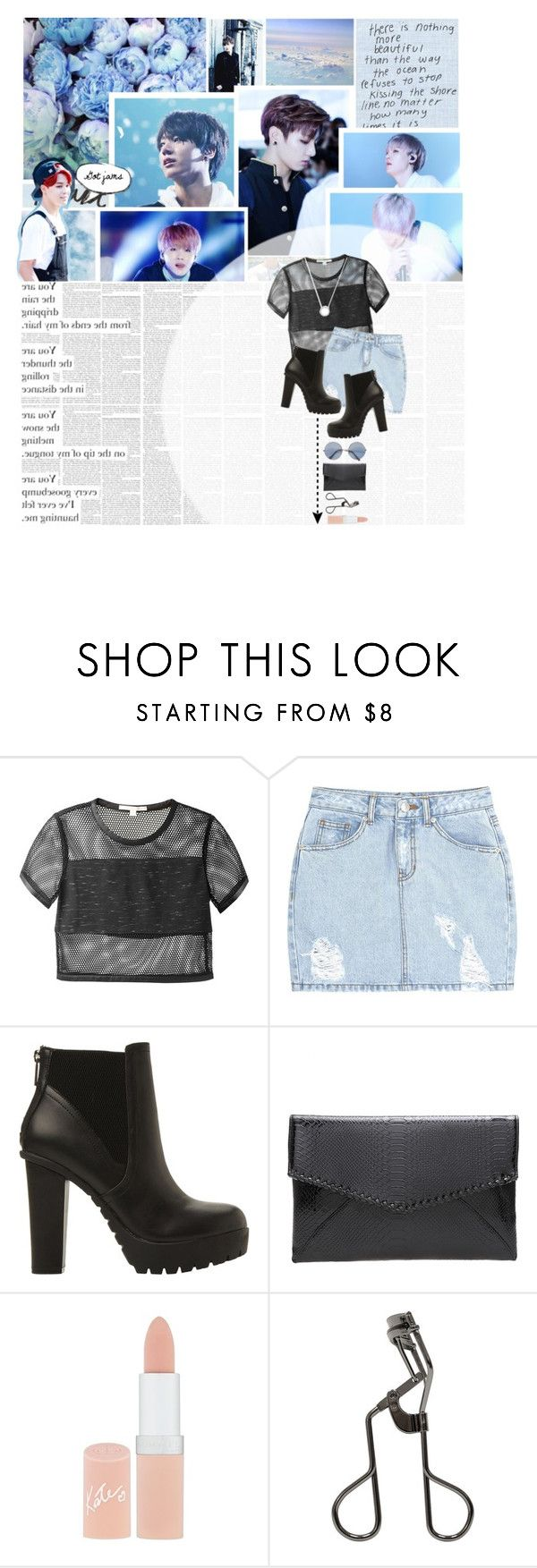 """""""Close your eyes, clear your heart, and let it go"""" by glitterlovergurl ❤ liked on Polyvore featuring Love Quotes Scarves, Prada, Jonathan Simkhai, SJYP, Steve Madden, Kiss The Sky, Rimmel, Tweezerman and Michael Kors"""