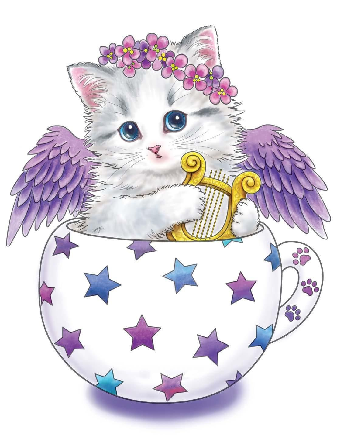 Teacup Kittens Coloring Book (Design Originals) 32