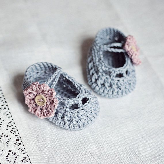 Instant download - Baby Booties Crochet PATTERN (pdf file) - Old ...