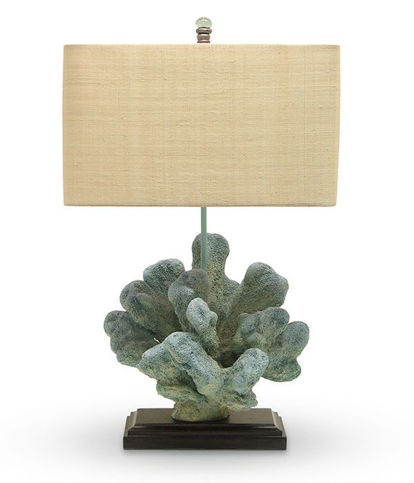 Coastal Lighting Blue Coral Table Lamp