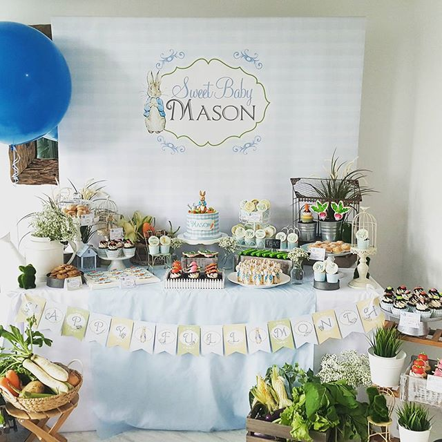 Peter Rabbit Dessert Table Pesquisa Google Baby Board