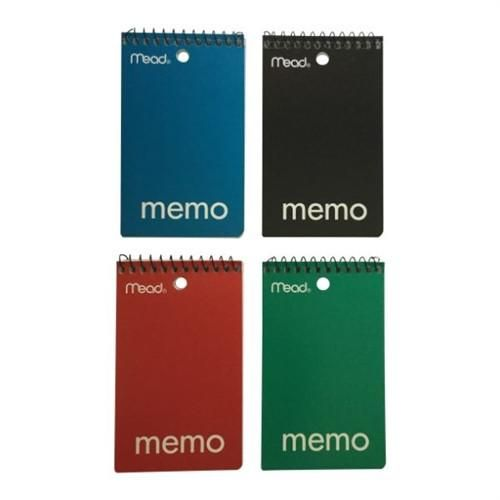 """*SPIRAL NOTEPADS SMALL 4"""" X 3"""" SET OF 4 [50 PAGES]"""