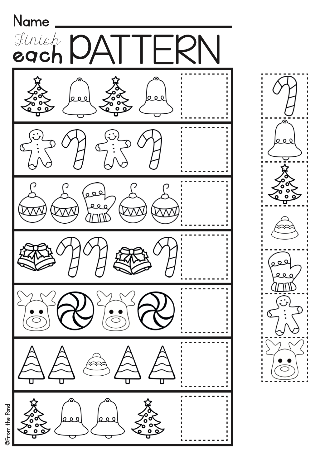 Christmas Activities For Kindergarten Math And Literacy