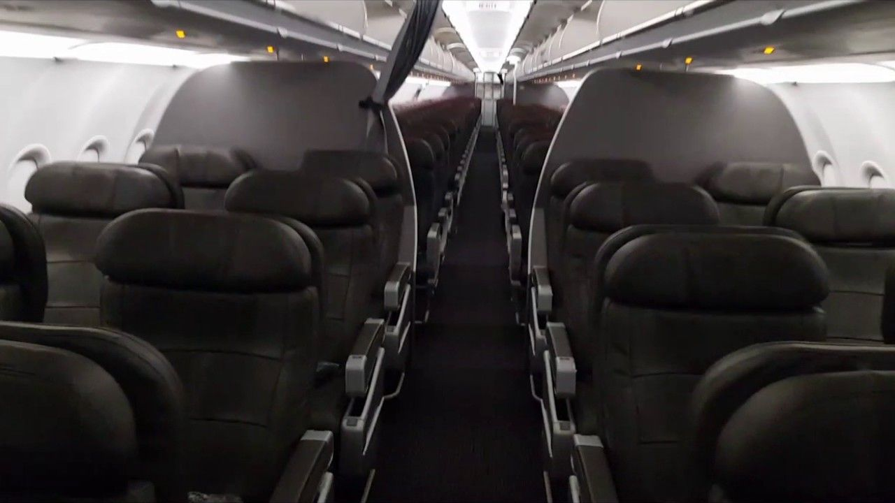 American airlines interior cabin tour airbus a321200s 32b