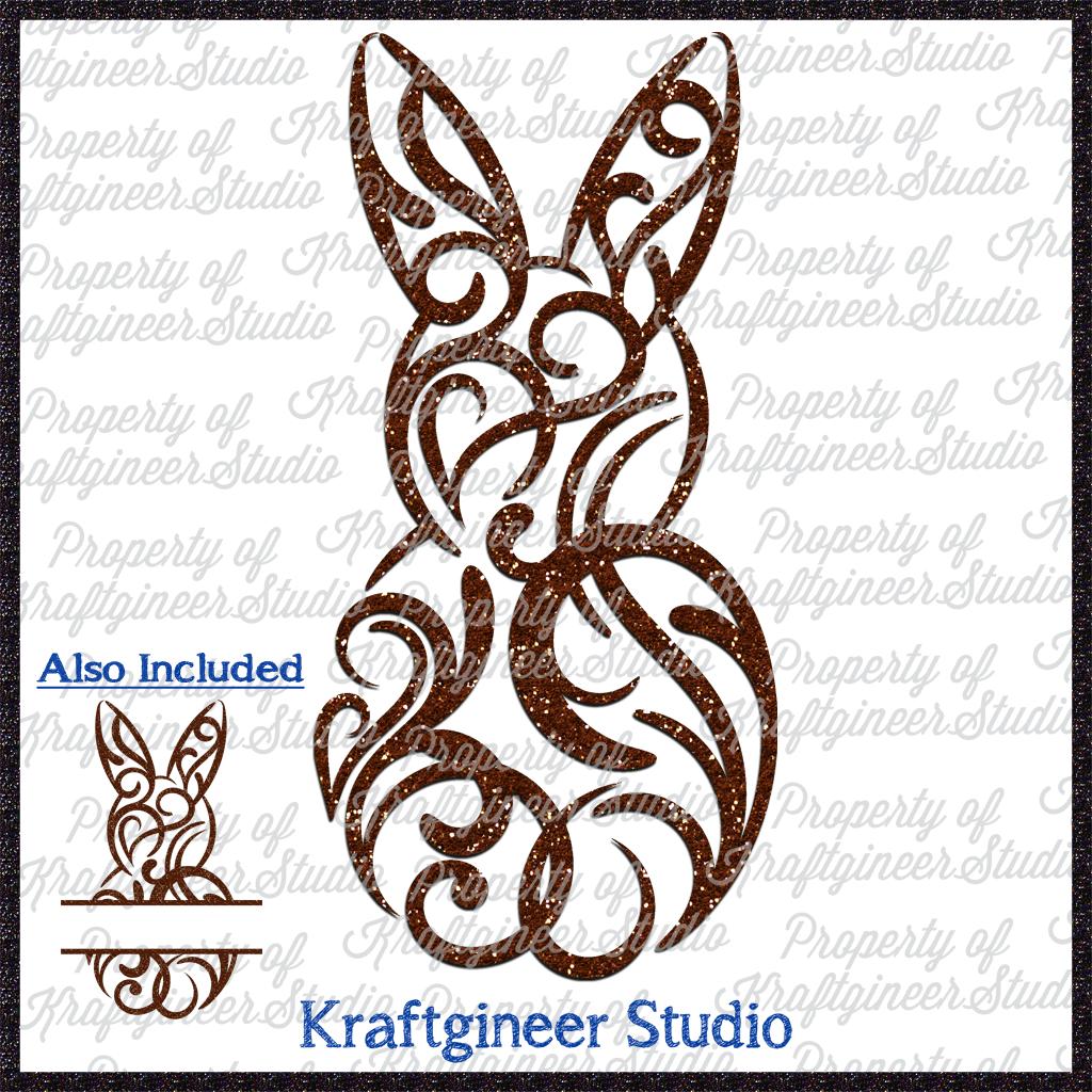 Filigree Bunny Vinyl crafts, Bunny tattoos, Easter crafts