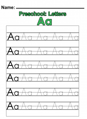 have your preschoolers practice how to start writing the letter a with this fun and simple printable preschool worksheet simply trace over the dotted