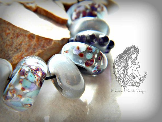 European Style Charms Size Lampwork Glass by FrecklePatchGlass, $25.00