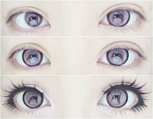 Kawaii Cute Makeup Anime Doll Eyes Big Girly Anime Eye