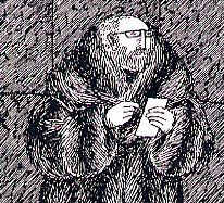 Edward Gorey (1925-2000) a self portrait in his classic pen and ink drawing style.