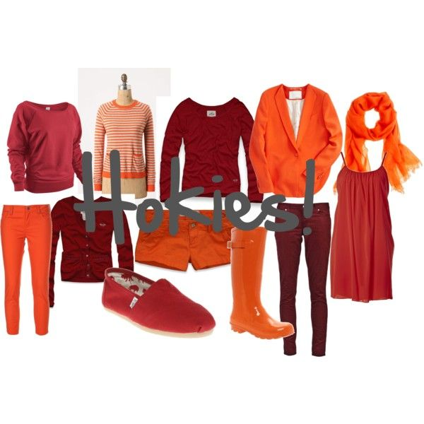 hokie wardrobe. i definitely need to expand my collection of cute maroon and orange clothes other than my maroon and orange effect tshirts!