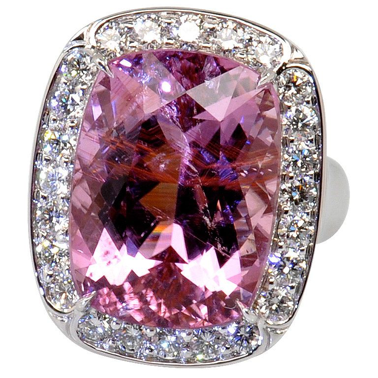 18 11 Carat Purplish Pink Tourmaline Quot Princess Quot Ring All