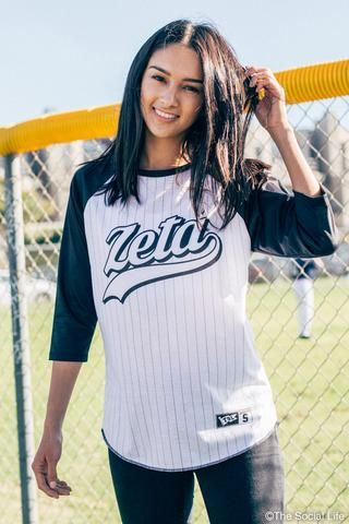 Zeta Tau Alpha Baseball Raglan Zeta Tau Alpha Shirts Zeta Tau Alpha Sorority Jerseys
