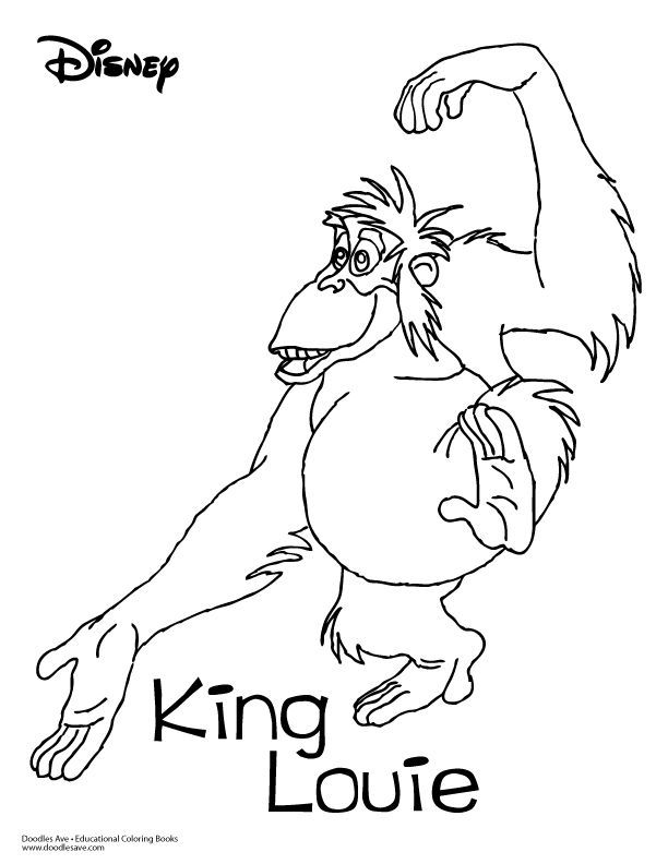 Jungle Book Coloring Sheet King Louie King Louie Jungle Book Jungle Book Tattoo Disney Art Drawings