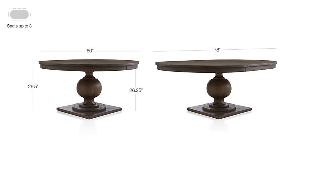 Winnetka 60 Round Light Mahogany Extendable Dining Table