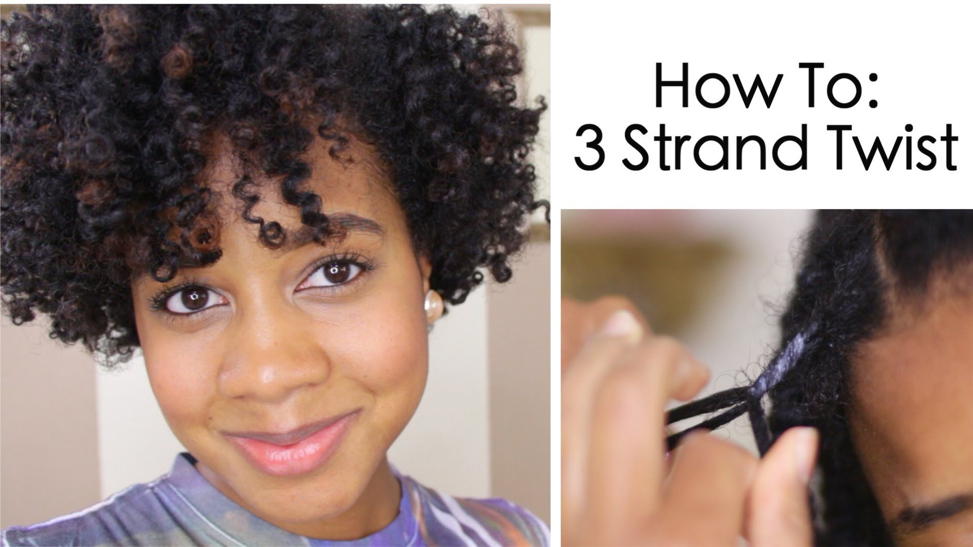 Here s a natural hair tutorial on how to 3 strand twist and a 3
