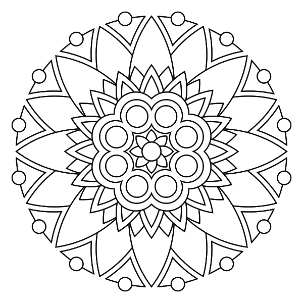 Free printable mandala coloring pages - I like to color things for ...