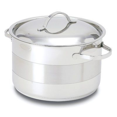Cuisinox Gourmet 8 5 Qt Stainless Steel Round Dutch Oven Dutch Oven Set Stock Pots Dutch Oven