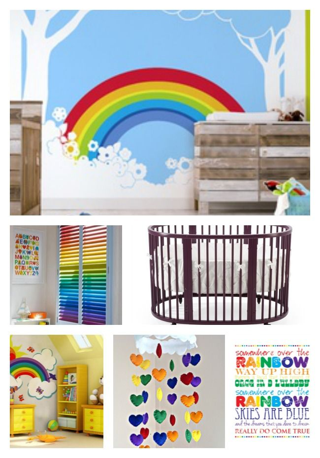 Baby Nursery Rainbow Baby Room Decor