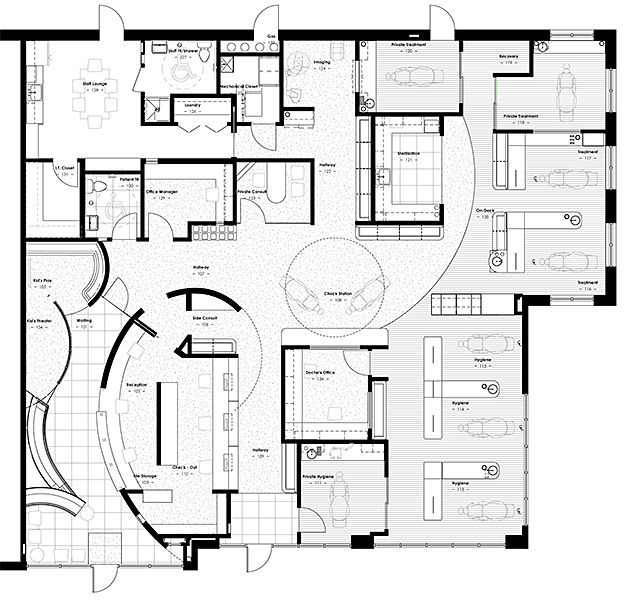 floor plan samples healthcare public areas - Google Search ...