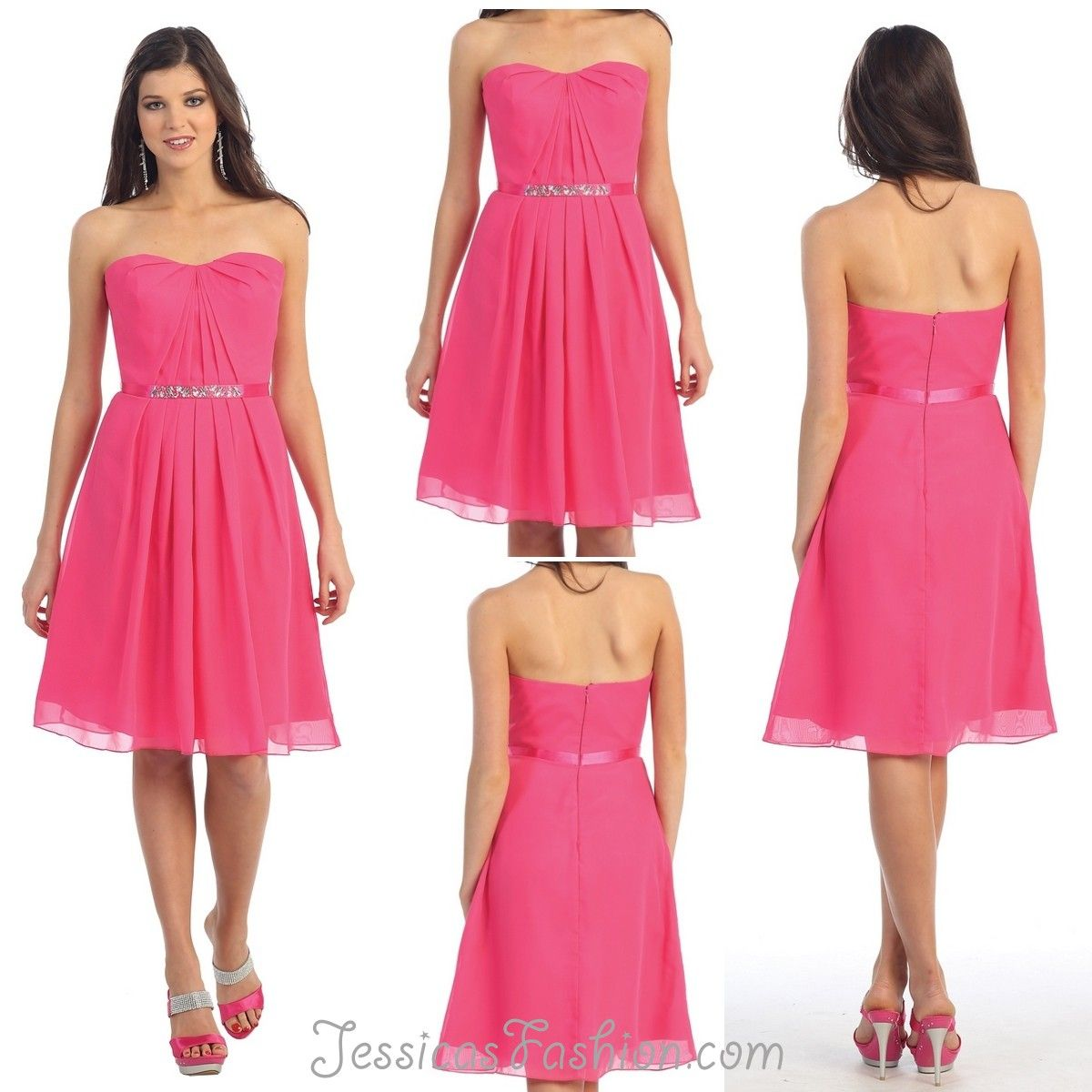 Short Graduation dress in color Fuchsia/Pink, Green, Turquoise ...