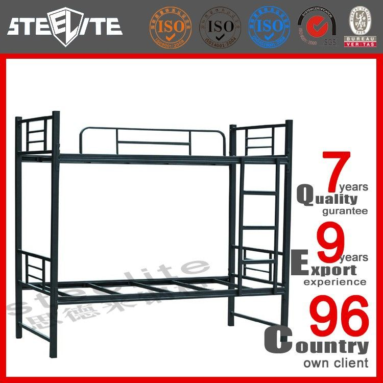 China Steel Bunk Bed Factory Double Decker Metal
