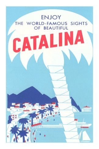 1950/'s Advertising Poster Catalina Island