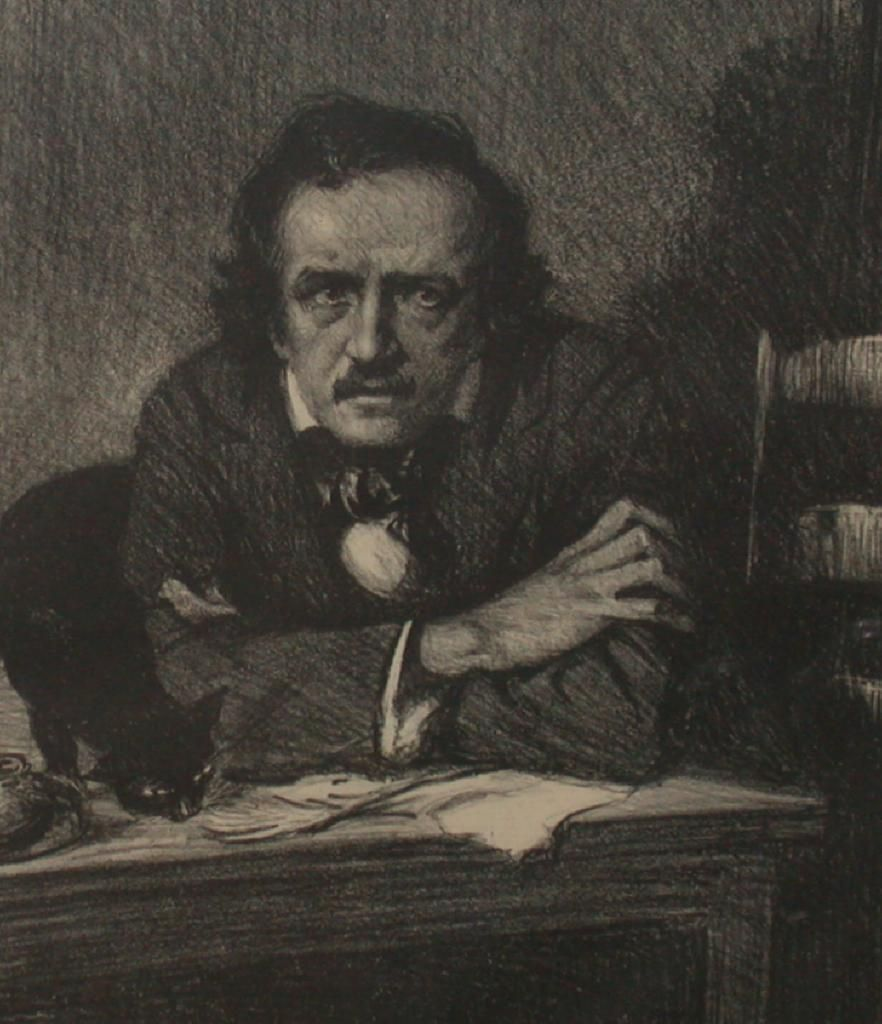 samuel j woolf portrait lithograph of edgar allen poe c  edgar allan poe