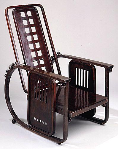 Chaise josef hoffmann 1905 sitzmachine art deco art for Art nouveau chaise