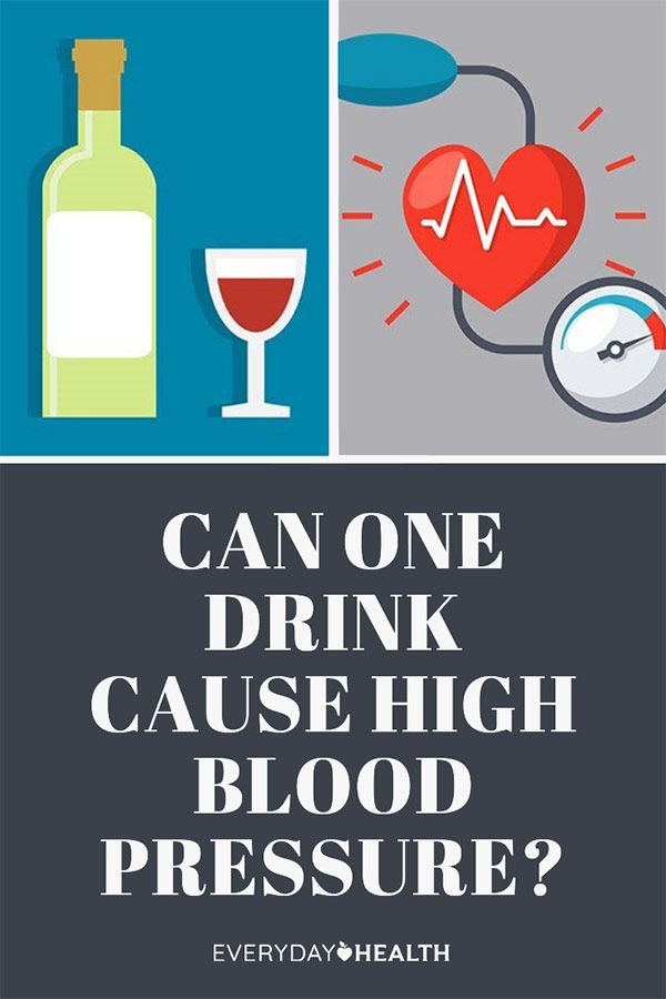 A Single Drink a Day May Cause High Blood Pressure You may need to step away from the if you're monitoring your health.
