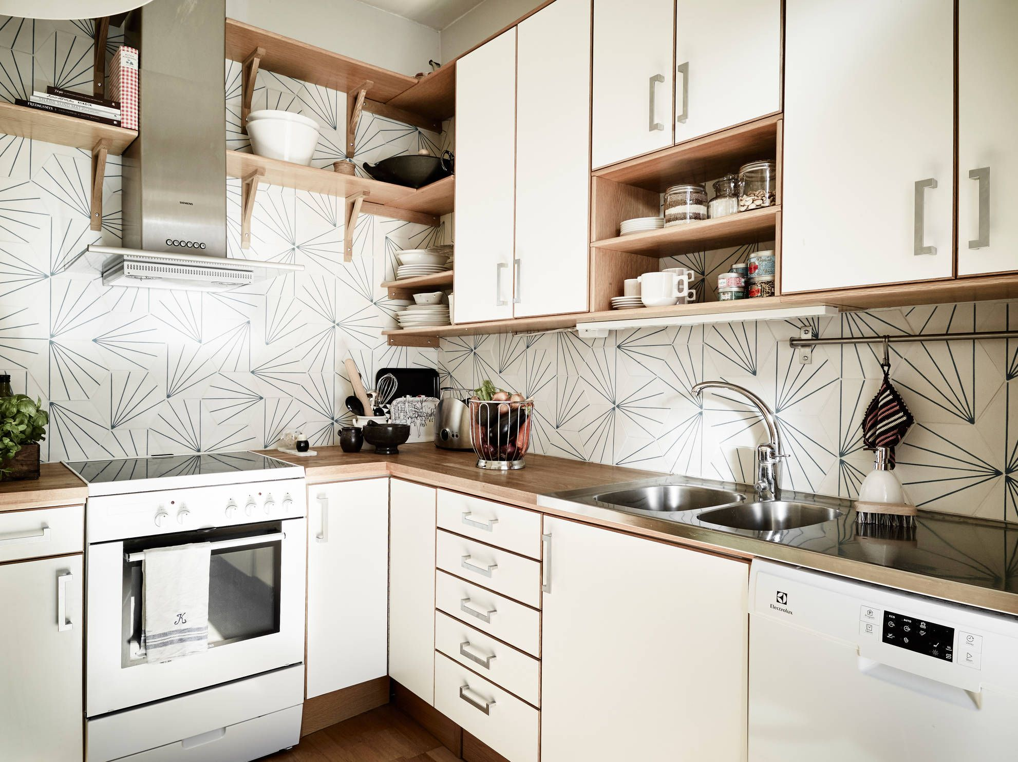 Image result for dandelion cement tile backsplash | Kitchen ...