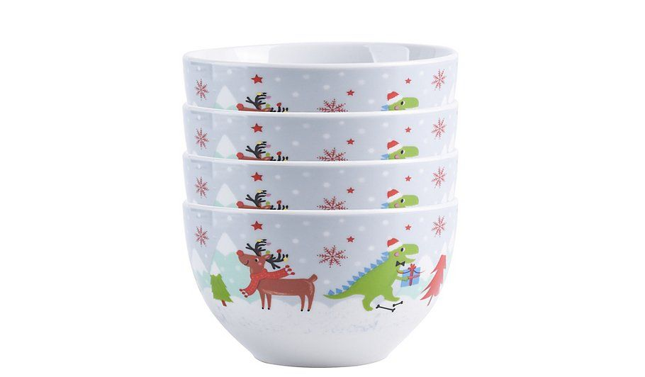 Christmas Character Bowls Set Of 4 George Beautiful Kitchenware Christmas Characters Bowl Set