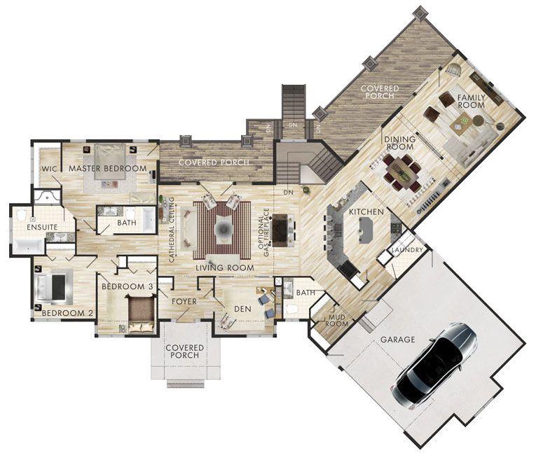 Awesome 1.3 Plano De Casa Grande 3 Dormitorios 1 Piso